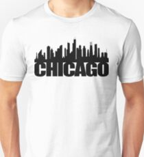 Chicago Skyline - black Unisex T-Shirt