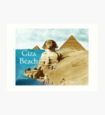 Giza Beach Art Print