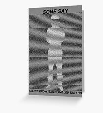 The Stig Greeting Card