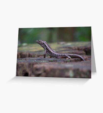 Lizard on a Stump Greeting Card
