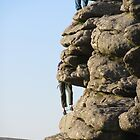 Climbers On Dartmoor by lezvee