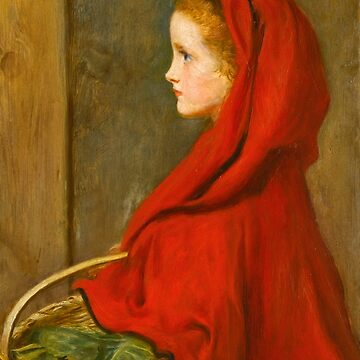 "John Everett Millais ""Red Riding Hood (A Portrait of Effie Millais, the artist's daughter)"" by ALD1"