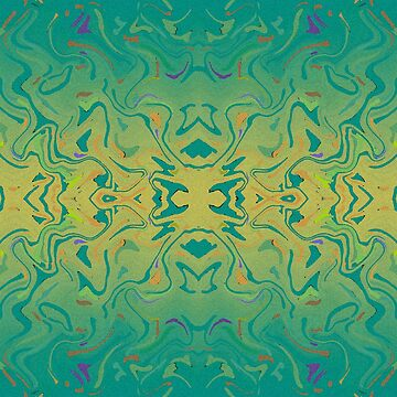 Green Gradient Abstract Watercolor by Missman