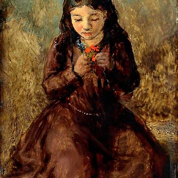 "John Everett Millais ""Florence 'Pobby' Thomas, kneeling and holding a posy of flowers"" by ALD1"