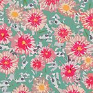 Pinkies - graphic foral by Julia  Raath