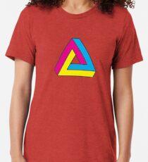 CMYK Penrose Triangle Tri-blend T-Shirt