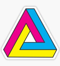 CMYK Penrose Triangle Sticker