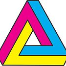 CMYK Penrose Triangle by alfablot