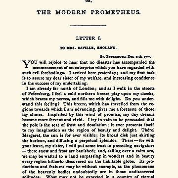 Frankenstein by Mary Shelley first page by buythebook86