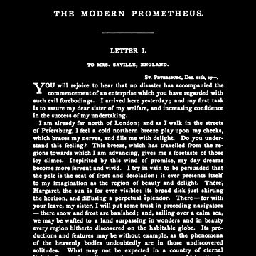 Frankenstein Mary Shelley First Page by buythebook86