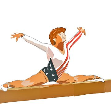 American Gymnast Mary Lou Retton Painting by FrenchToasty
