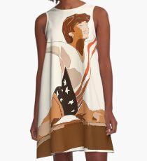 American Gymnast Mary Lou Retton Painting A-Line Dress