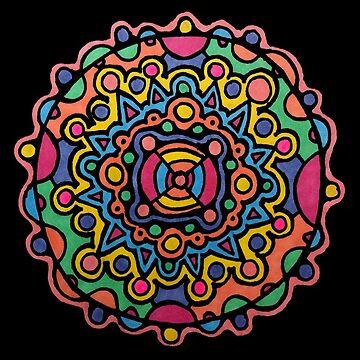 Brightly Colored Mandala by gorff