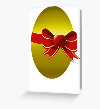 Gold Easter Egg Just 4 You  Greeting Card