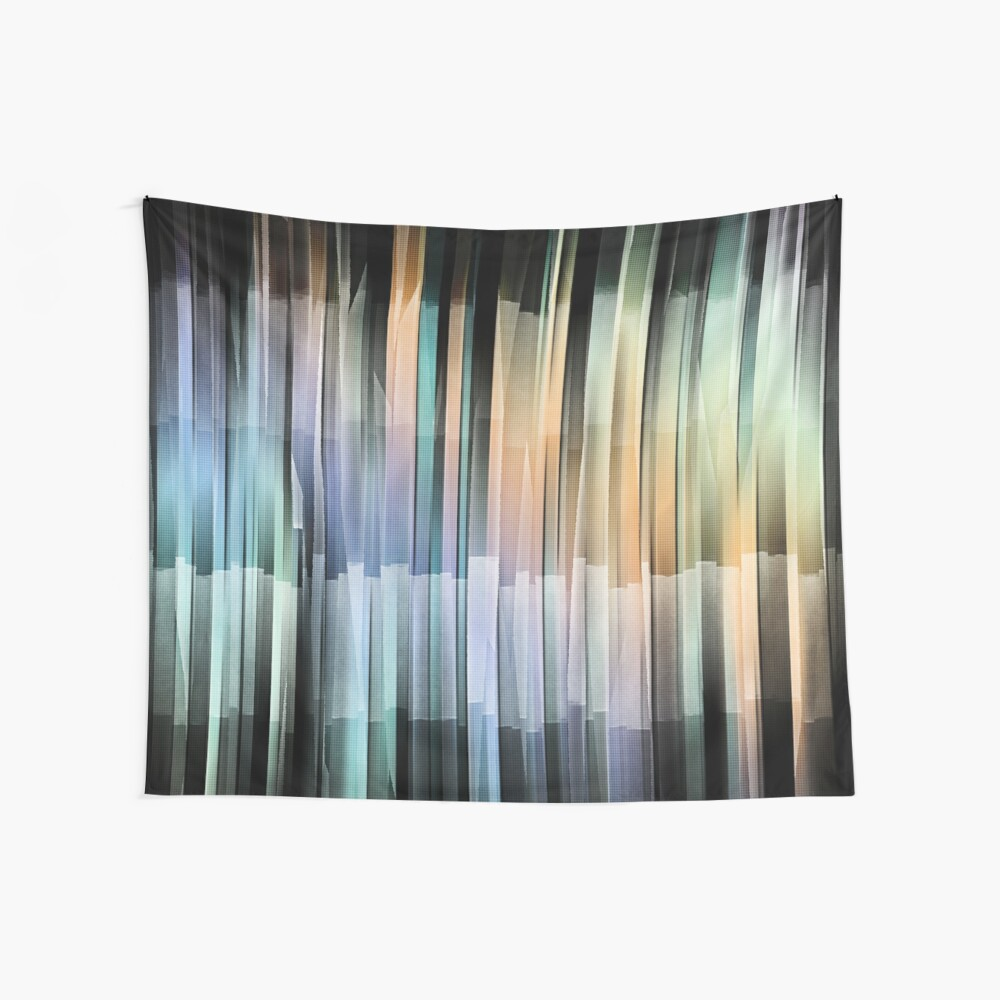 Colorful Textured Stripes Wall Tapestry