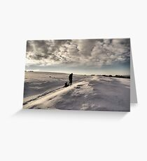 Sledging in the wilderness Greeting Card