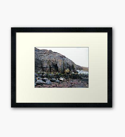 North Yorkshire Coastal Erosion Framed Print