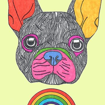frenchie dog over the rainbow by Surrealist1