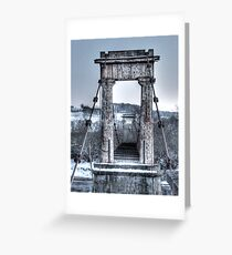 The 'Shakin Brig' Cross With Care! Greeting Card