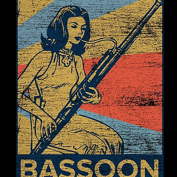 Bassoon musician by GeschenkIdee