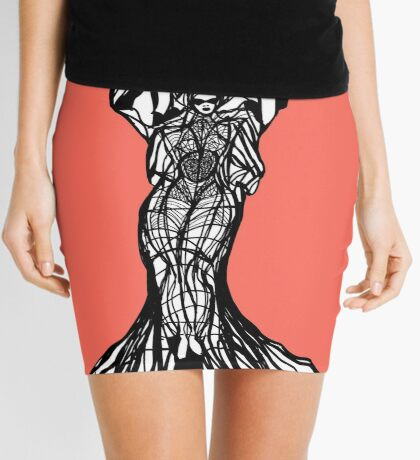 The woman within in living coral Mini Skirt