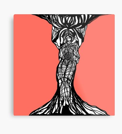 The woman within in living coral Metal Print