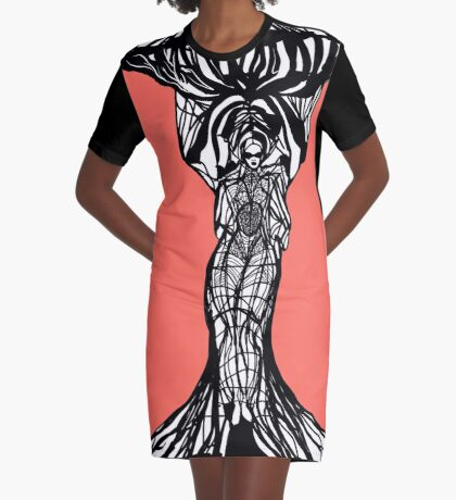 The woman within in living coral Graphic T-Shirt Dress