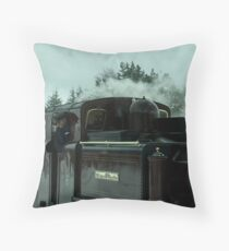 Stepping into the past 3 - in colour Throw Pillow