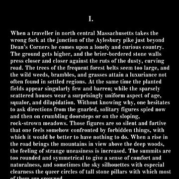 The Dunwich Horror H.P. Lovecraft First Page by buythebook86
