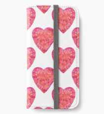 Valentine's Day Red Hearts pattern iPhone Wallet/Case/Skin
