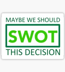 silicon valley swot green Sticker