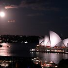 Sydney Harbour by moonlight by Tim Coleman