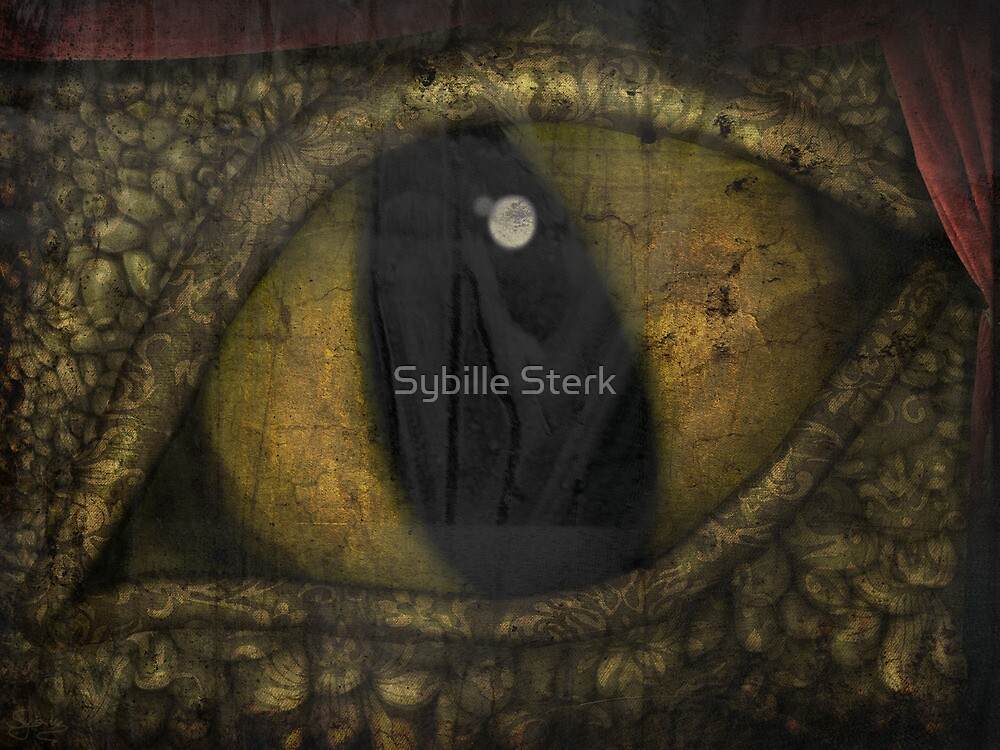 Dragon's Eye - Experiment - Tapestry Dragon by Sybille Sterk