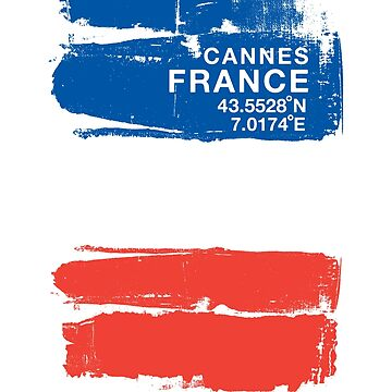 Cannes France Coordinates Vintage French Art by IronEcho