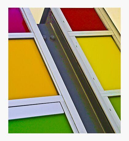 Colours of the rainbow - Joondalup Campus ECU, Perth, Western Australia Photographic Print