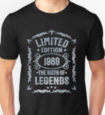 Born 1969 - Legends Birthday T-Shirt Unisex T-Shirt