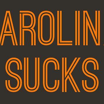 Carolina Sucks - Pewter/Orange (Tampa Bay) by caknuck