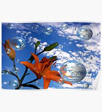 Lily In The Sky...With Bubbles Poster
