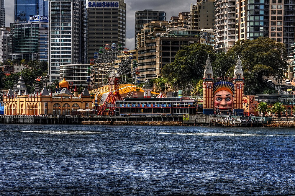 Icons of Sydney - Luna Park by Rod Wilkinson
