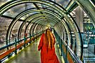 Red Coat at Pompidou Center by Bill Wetmore