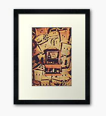 A quilters design Framed Print