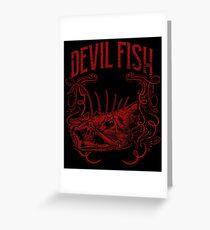 Devilfish fish Greeting Card