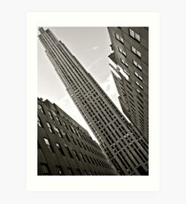 ...and i wondered why my neck was aching when i left NY Art Print