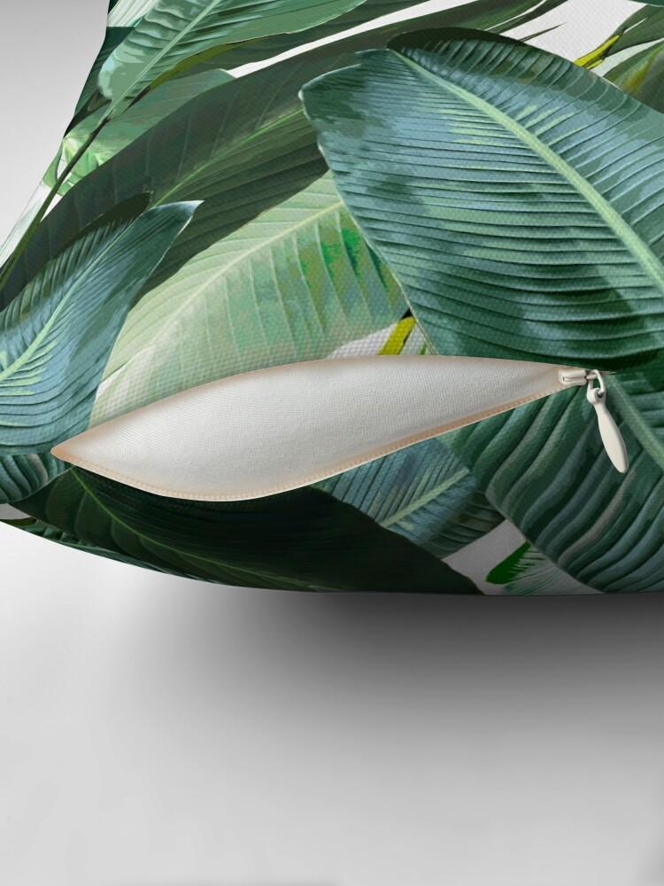 Alternative Ansicht von Bananenblatt wiegende Palmendruck Dekokissen