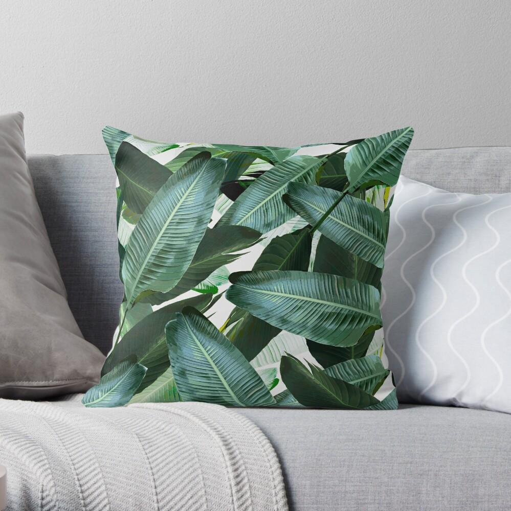 Bananenblatt wiegende Palmendruck Dekokissen