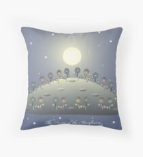 The Dance of the Moonflowers Throw Pillow
