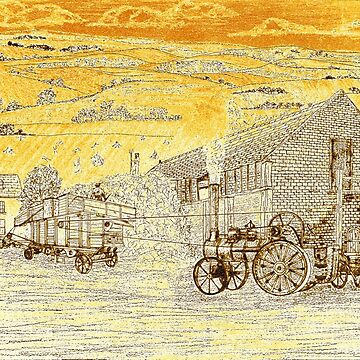 Steam Threshing in Yorkshire in the 1940s by ZipaC