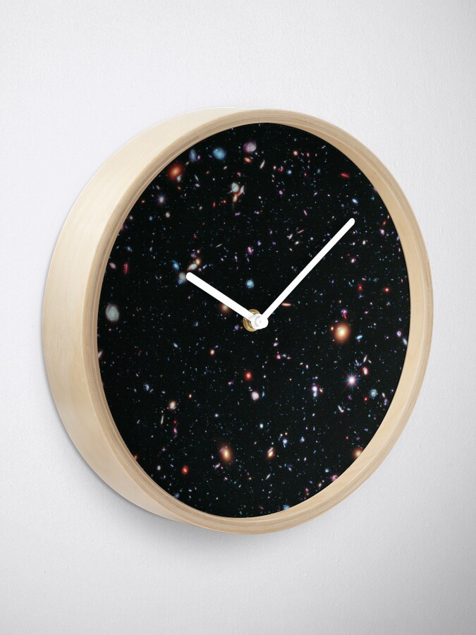 Alternate view of Hubble Extreme Deep Field Image of Outer Space Clock