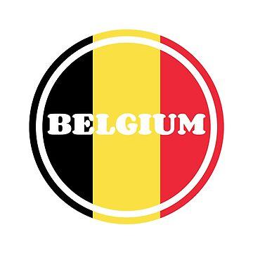 Belgien Flagge von S-p-a-c-e