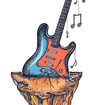 Guitarra y montaña de intueri
